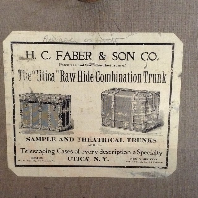 19th Century Trunk by h.c. Faber and Son Co. For Sale - Image 9 of 10