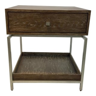 Studio a Oak and Silver Alexander Side Table For Sale