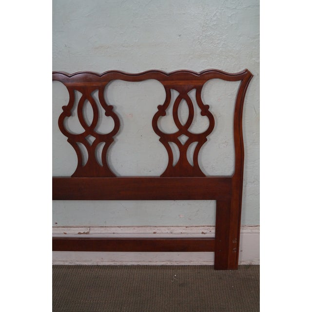 Drexel Heritage Queen Size Cherry Chippendale Style Headboard - Image 10 of 10