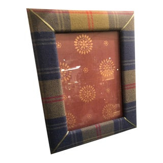 1980s Vintage Flannel Picture Frame For Sale