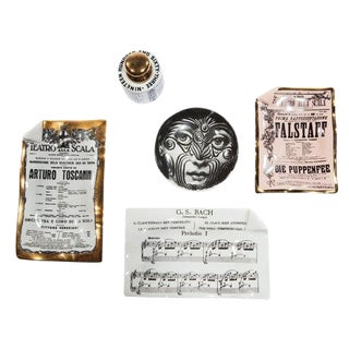 1960's VINTAGE PIERO FORNASETTI CURIOSITIES- SET OF 5 For Sale