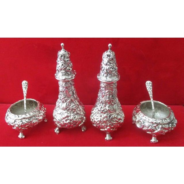 Stieff Rose-Pattern Salt & Pepper Set - Set of 4 - Image 2 of 11