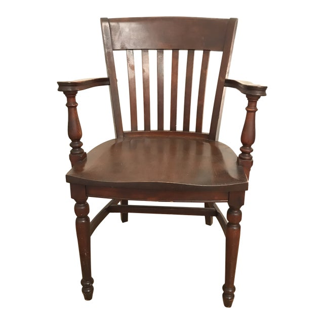 Antique Ivan Allen Marshall Co Atlanta Wood Library Office Accent Chair For Sale