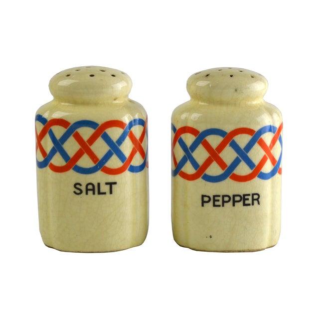 Ceramic Salt & Pepper Shakers - Pair For Sale