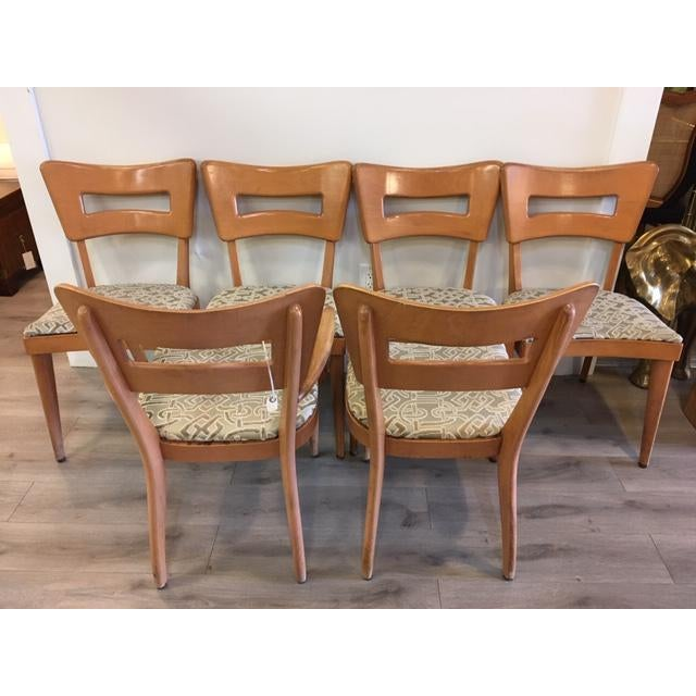"""Heywood-Wakefield Heywood Wakefield Set of Six """"Dog Biscuit"""" Dining Chairs For Sale - Image 4 of 7"""