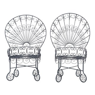 Set of Salterini Peacock Chairs - a Pair For Sale