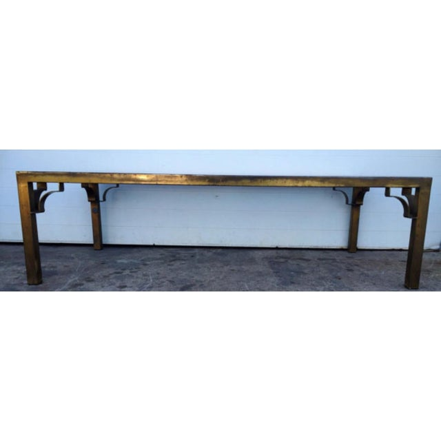 Oxidized Solid Brass And Glass Coffee Table Chairish