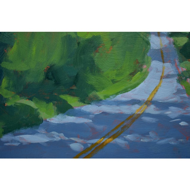 """Blue """"Back Road in Vermont"""" Painting by Stephen Remick For Sale - Image 8 of 11"""