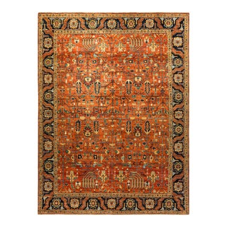 One-Of-A-Kind Oriental Serapi Hand-Knotted Area Rug, Crimson, 9' 0 X 11' 8 For Sale