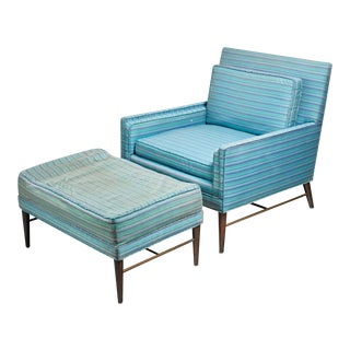 Paul McCobb lounge chair with ottoman for Calvin, American, 1950s For Sale