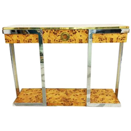 Willy Rizzo Burl Wood Console - Image 1 of 6