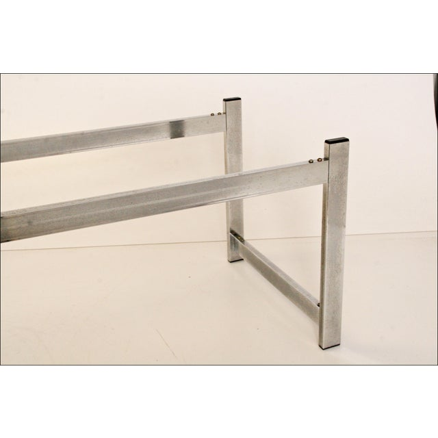 Mid-Century Modern Chrome & Glass Coffee Table - Image 9 of 11