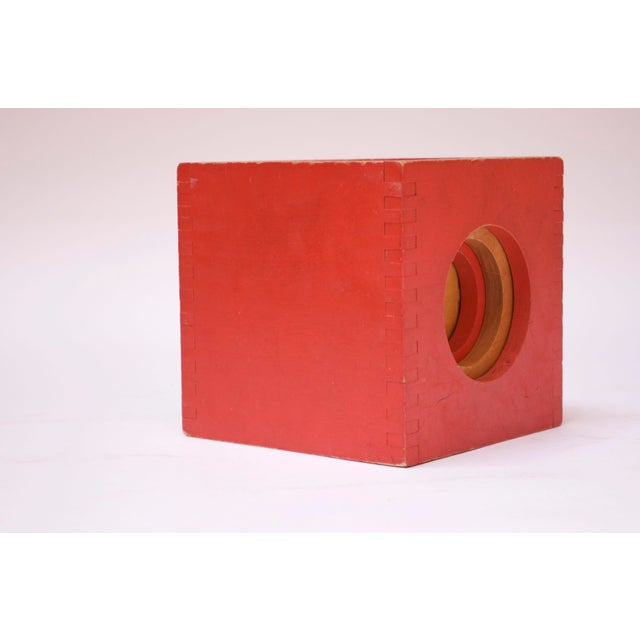 Set of four nesting blocks / cubes by Creative Playthings (Finland, 1960s). Set includes four blocks in varying sizes: two...