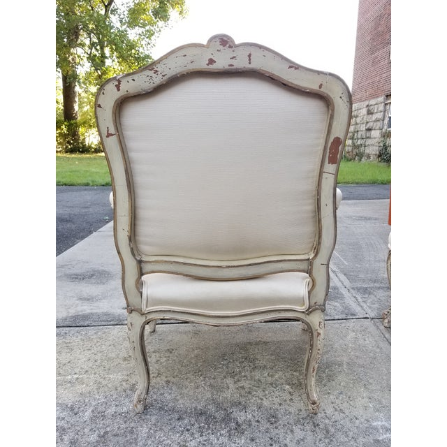 Vintage French Louis XV Style Armchairs - a Pair For Sale - Image 5 of 11
