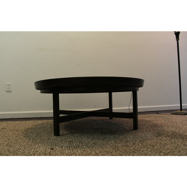 Mid-Century Modern Baker Round Flared Coffee Table - Image 3 of 11