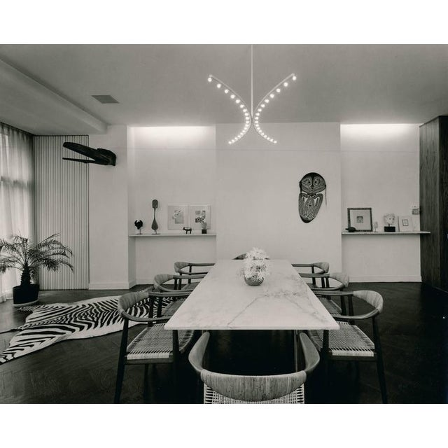 Silver Elaine Lustig Cohen Marble Extension Dining Table For Sale - Image 8 of 9