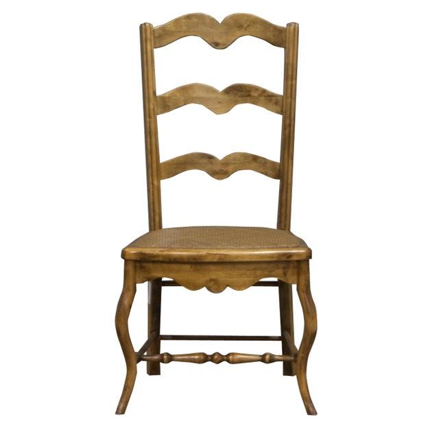 Vintage Sarreid LTD Alder Wood Ladderback Hall Chair - Image 1 of 4