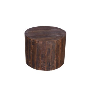 Delmar Rustic Round Wooden Coffee Table For Sale