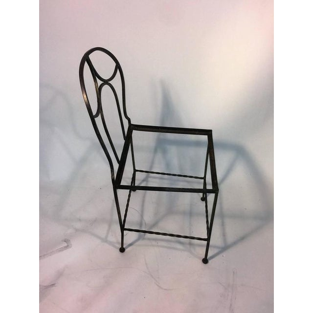 BEAUTIFUL ART DECO WROUGHT IRON VANITY AND CHAIR BY FERRO BRANDT For Sale - Image 9 of 11