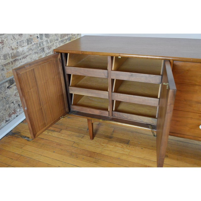 Wood Drexel Declaration Mid Century Modern Walnut Low Chest - a Pair For Sale - Image 7 of 9