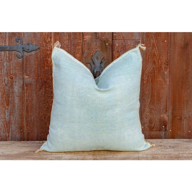 Zara Large Square Moroccan Silk Rug Pillow For Sale In Los Angeles - Image 6 of 8