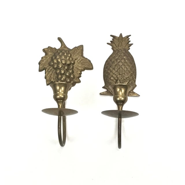 Cottage Wall Mount Candle Sconces - A Pair For Sale - Image 3 of 7
