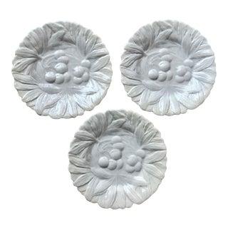Italian Faience Fruit Plates-Set 3 For Sale
