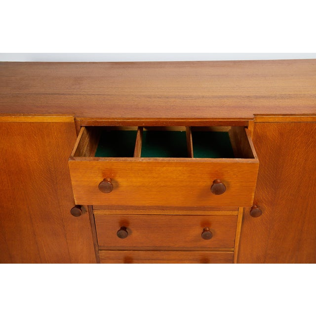 Brown Midcentury English Oak Sideboard For Sale - Image 8 of 13