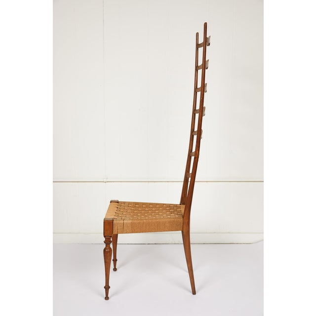 Mid-Century Modern Italian Tall Ladderback Chiavari Chair For Sale - Image 3 of 12
