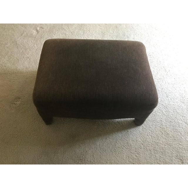 Gray Room & Board Club Chair & Ottoman For Sale - Image 8 of 11