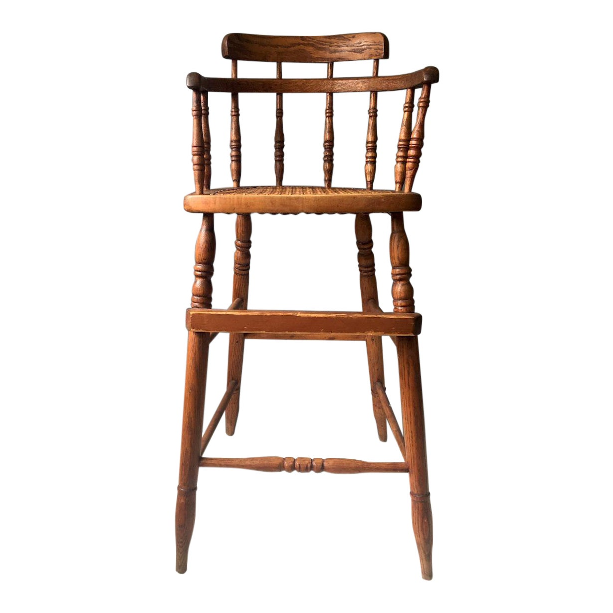 - Antique Caned Seat Oak Youth Chair Chairish