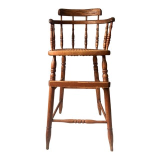Antique Caned Seat Oak Youth Chair