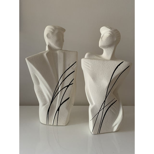 Remember shoulder pads? Well this pair of chiseled, 'new wave' 80's style sculptures are rockin' them! Super fun for any...