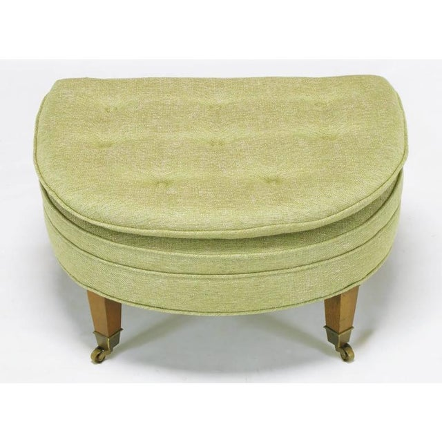 Mid-Century Modern Pair of Demilune Ottomans by Kittinger For Sale - Image 3 of 7