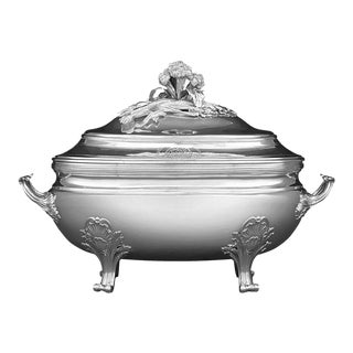 Louis XV Silver Tureen by Jean-Baptiste-Francois Chéret For Sale