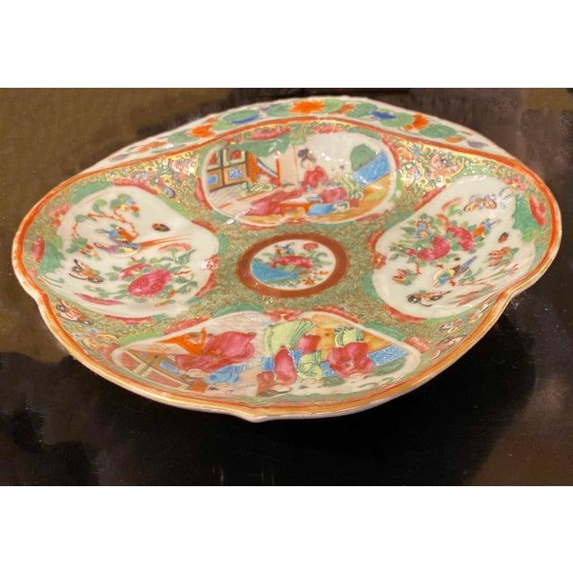 Ceramic Famille Rose Shrimp Dish For Sale - Image 7 of 10