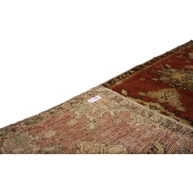 Mid 20th Century Vintage Turkish Oushak Rug Runner - 2′5″ × 7′9″ For Sale - Image 5 of 7