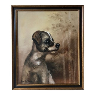 Original Oil on Canvas Portrait of a Dog by Sonia Torres For Sale
