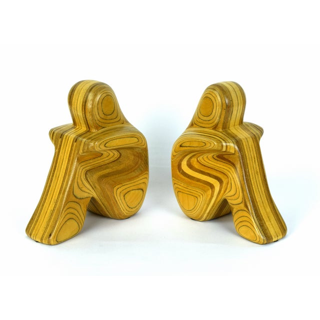 Mid-Century Modern Mid Century Modern Robert Hargrave Wood Bookends Abstract Human Figurines- A Pair For Sale - Image 3 of 10