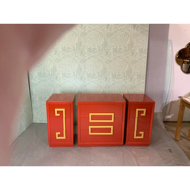 Mid-century cabinets. Can be used as two nights. With storage cabinet or all together as a bureau, or as console etc....