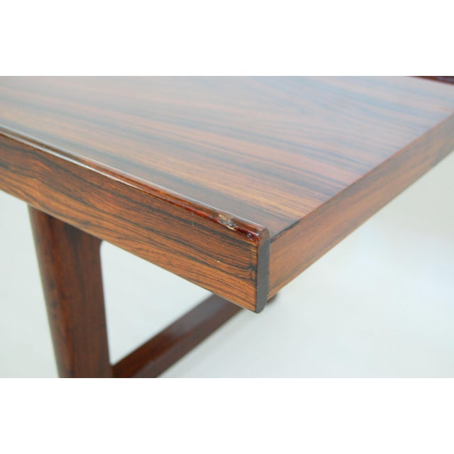 Torbjorn Afdal for Bruksbo Norwegian Krobo Rosewood Coffee Table or Bench - Image 6 of 7