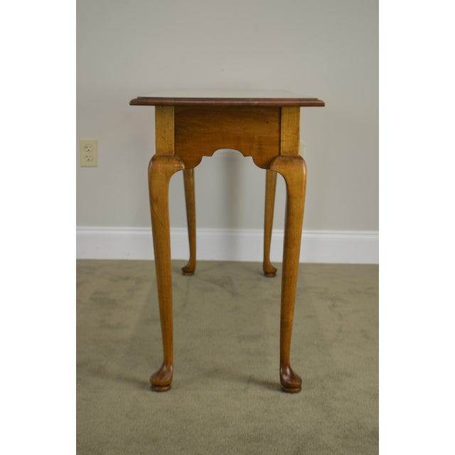 Ethan Allen Ethan Allen Circa 1776 Collection Maple Queen Anne Sofa Table Console For Sale - Image 4 of 13