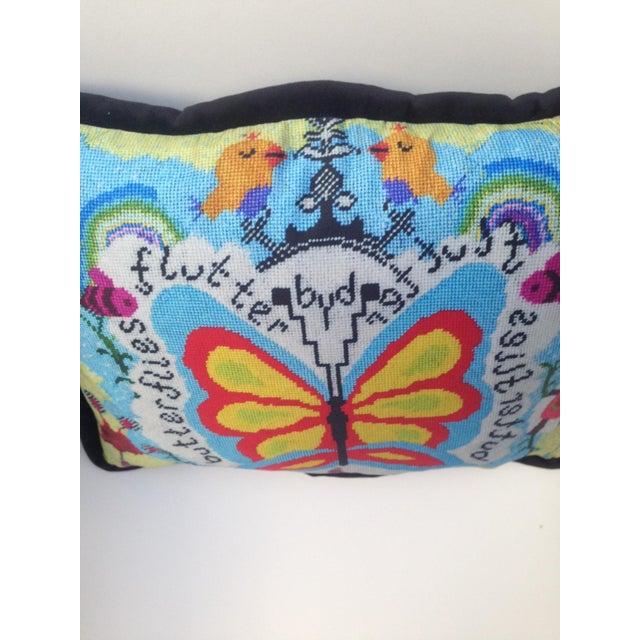 Custom Designed Butterfly Garden Pillow For Sale - Image 4 of 7