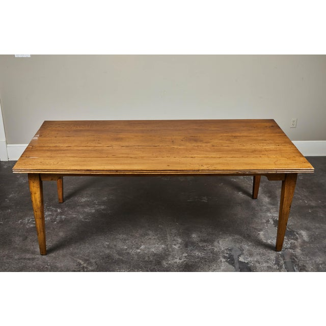 20th C. Indonesian Teak Farm Table For Sale - Image 4 of 9