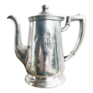 Vintage Silver Plated Coffee Pot From the Plaza Hotel in NYC For Sale