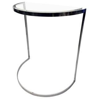 Milo Baughman Style Console Table For Sale
