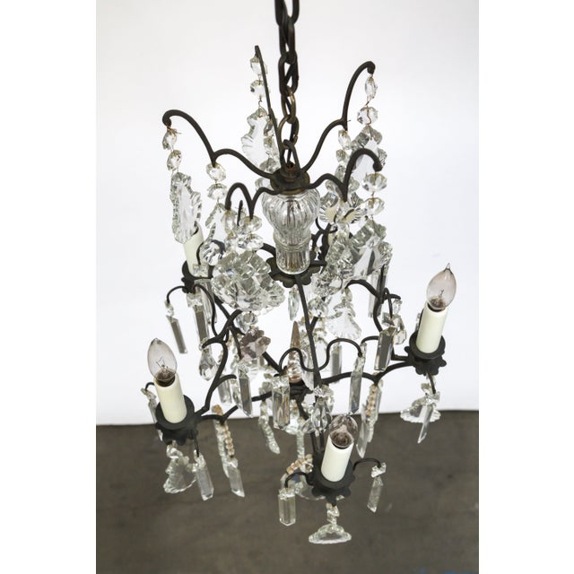 Multi Crystal Birdcage Chandeliers (Pair) For Sale In San Francisco - Image 6 of 13