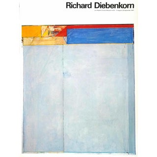 1970s Vintage Original Abstract Richard Diebenkorn L. A. Museum Exhibition Print For Sale