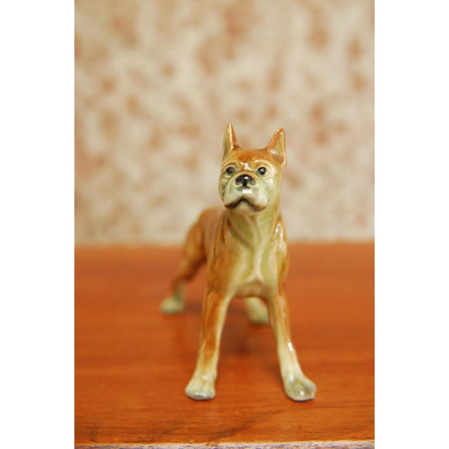 English Traditional Porcelain Boxer Dog Figurine For Sale - Image 3 of 8