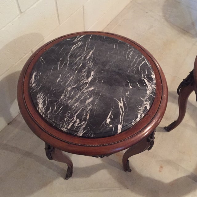 Antique French Side Tables - A Pair - Image 3 of 9